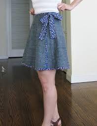 Image result for wrap skirt pattern