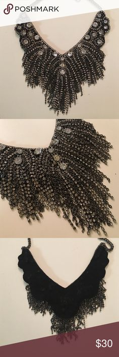 Statement bib style necklace from anthropologie Very versatile statement from anthro. Bib style that makes it super light and easy to wear. Easily worn with a simple sweater dress or t-shirt. Anthropologie Jewelry Necklaces