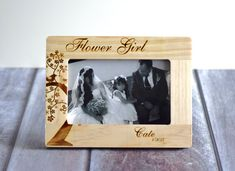 Hey, I found this really awesome Etsy listing at https://www.etsy.com/listing/225936656/personalized-flower-girl-picture-frame