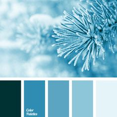 Blue Color Palettes, cold shades, color of winter, dark-blue, deep blue and blue, frost color, monochrome blue palette, monochrome color palette
