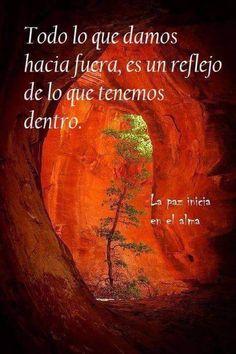 Todo lo que damos hacia fuera, es un reflejo de lo que tenemos dentro....... - Mary Quirilao - Google+