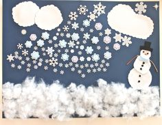 100 days of school.  Cade wants to do stars.  We could change the snow to stars and the snowman to the moon.