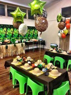 Resultado de imagen para jungle party table