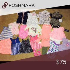 Newborn lot of baby girls clothes New with tags Carter's Other