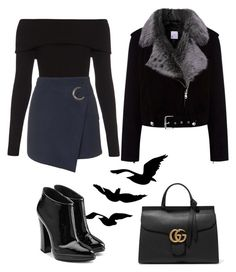 A fashion look from February 2016 featuring long sleeve tops, navy blue skirt and black ankle booties. Browse and shop related looks. Fall Fashion Skirts, Black Ankle Booties, Closet Ideas, Giuseppe Zanotti, Long Sleeve Tops, Women's Clothing, Topshop, Fashion Looks, Gucci