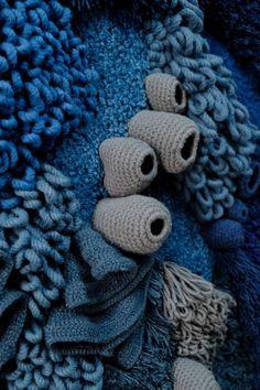 Yarn World Map Art Project by Vanessa Barragão Textile Sculpture, Textile Fiber Art, Textile Artists, Freeform Crochet, Crochet Art, World Map Art, Textiles, Quilt Festival, Weaving Art