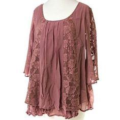 ❤❤❤Rose Lace Tunic❤❤❤ http://shop.crackerbarrel.com/Rose-Lace-Tunic/dp/B017DJF4WE