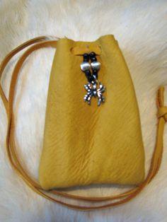 Spider Totem Medicine Bag Leather Bag Pouch by SpeaksWithAncestors