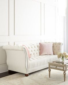 Haute House Gigi Tufted Sofa! Perfect tufted sofa for any home!