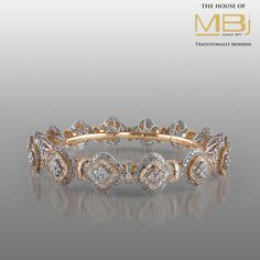 Elegant #Bracelet from #TheHouseofMBj ingeniously crafted with dazzling #diamonds in intricately unique designs. #MBjIndia #MBj #Luxury #Diamond #Gold