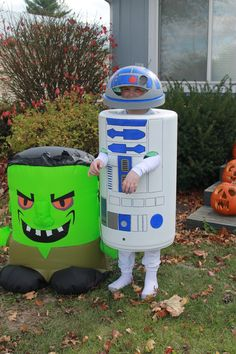 Homemade R2D2 costume R2d2 Costume, Halloween Fun, Homemade, Costumes, Kids, Crafts, Holidays, Young Children, Boys