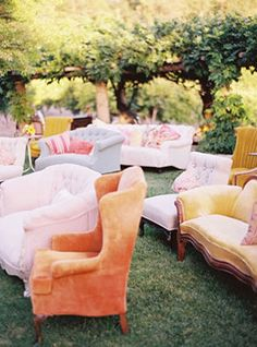 unconventional seating. this would be hella pricey b ut so dang cute