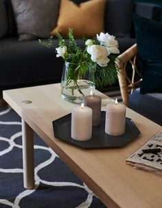 Need new living room decorating ideas? IKEA offers products that create a cosy setting. Why not try LUGGA; our vanilla-scented block candle, just right for your coffee table?