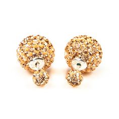 """Karma Earrings - Double Dots - Champagne Crystal  """"What goes around comes around."""" That's what Karma is all about. Karma Jewelry is very nice to see and easy to combine with your other jewelry. BoumanOnline.com"""