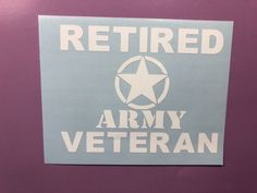 Retired Veteran Army Dog Tags White Vinyl Decal Sticker Window Car Electronics | eBay Motors, Parts & Accessories, Car & Truck Parts | eBay!