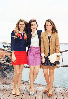 Classy Girls Wear Pearls: preppy east coast style for working women or students Prep Style, My Style, Preppy Mode, Preppy Girl, Adrette Outfits, Fall Outfits, Casual Preppy Outfits, Preppy Business Casual, Blazer Outfits