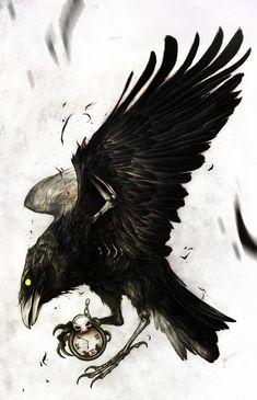 Want to discover art related to crow? Check out inspiring examples of crow artwork on DeviantArt, and get inspired by our community of talented artists. Tattoo Sketches, Tattoo Drawings, Body Art Tattoos, Art Sketches, Sleeve Tattoos, Fox Tattoos, Deer Tattoo, Black Crow Tattoos, Tattoo Black