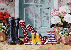 Endless Skies by Roisin O'Farrell Watercolor Flowers, Watercolor Paintings, Irish Art, Shoe Art, Painted Shoes, Artist Painting, Paint Colors, Art Gallery, Canvas Art