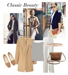 """""""Classic personality styling rectangle body shape"""" by monicazelin ❤ liked on Polyvore featuring Michael Kors, Dsquared2, Miss Selfridge and Yves Saint Laurent"""