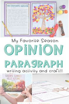 2nd Grade Opinion Writing: My Favorite Season Writing Lessons, Writing Resources, Writing Activities, Writing Ideas, Easy Writing, Writing Prompts, Opinion Writing, Persuasive Writing, Teaching Writing