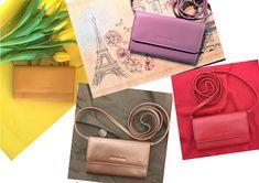 Mini Taschen / Minibags in netten Farben für Handy, Schlüssel und Geld. Unbeschwert in den Frühling Shopper, Wallet, Mini, Bags, Fashion, Accessories, Pocket Wallet, Chic, Money