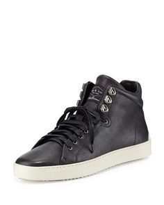 rag & bone > kent leather midtop sneakers