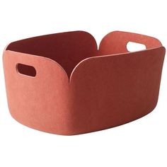 Muuto Home Restore Recycled Plastic Felt Basket (135 CAD) ❤ liked on Polyvore featuring home, home decor, small item storage, pink, muuto, plastic baskets, pink home decor, pink basket and felt basket