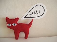 Red Cat by cronopia6 on Etsy, $8.00