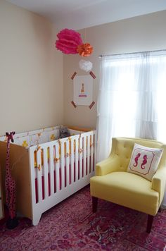 Our eco-friendly shared nursery for a baby and an 8-year-old. I love how it turned out!