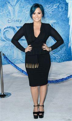 "Demi Lovato attends the world premiere of ""Frozen"" in Los Angeles on Nov. 19, 2013."