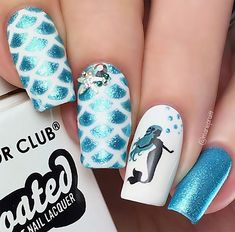 Mermaid scales and cute decals