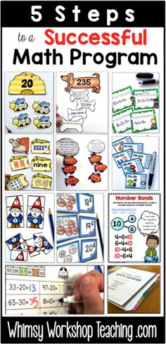 A list of simple but effective changes you can make in your math program that will ensure that students are challenged, work is differentiated, and the teacher is not doing more work than the students! Free samples of math strategy posters and daily math templates.