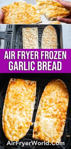 Our Air Fryer Frozen Garlic Bread is really tasty. It's great for Thanksgiving dinner. Yeast Bread Recipes, Quick Bread Recipes, Easy Bread, Side Dish Recipes, Air Fry Recipes, Air Fryer Dinner Recipes, Appetizer Recipes, Appetizers, Frozen Garlic Bread