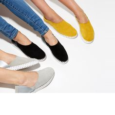 Want Love Need: 7 Brands I'm Loving This Summer A mix between a sneaker and a flat, The Bendy Shoe is made of only four parts: a flexible bottom, a soft upper composed of ethically sourced and vegetable-tanned leather, a cushioned footbed, and thread! Minimalist Shoes, Minimalist Fashion, Sock Shoes, Slip On Shoes, Stylish Shoes For Women, Usa Shoes, Minimalist Lifestyle, Vegetable Tanned Leather, Fast Fashion