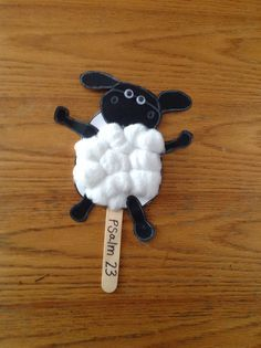 Sheep Bible Craft -- use this for studying the animals in the Quran