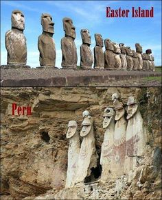 Easter Island and Peru, connections between ancient civilizations Ancient Aliens, Aliens And Ufos, Ancient Egypt, Ancient History, European History, Ancient Greece, Black History, American History, Objets Antiques