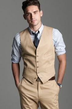 Groom's Khaki Suit. Shirt Color??? | Weddings, Beauty and Attire ...