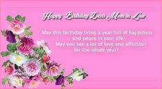 Pin by virginia renee warfield bankhead on renees pinterest 47 happy birthday mother in law quotes m4hsunfo