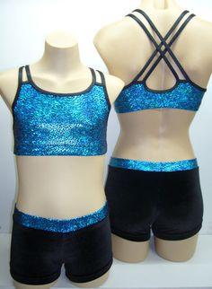 Size 6, 8, 10, 12 & 14 - LEOTARD/GYMNASTIC/DANCE - Crop Top Pants Set | eBay