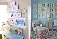 Desenhos do seu filho podem virar elementos de decoração.