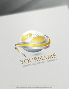 Branding yourself a business never been faster! Instantly use the Globe Logo maker, to create a logo online for free. Create Name Logo, Create A Logo Free, How To Make Logo, 3d Logo, Logo Making Software, Travel Agency Logo, 3d Templates, Business Logo Design, Business Branding
