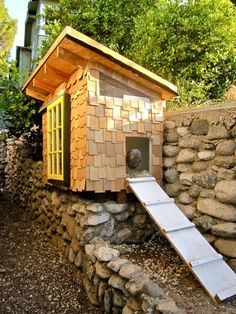 Rustic chicken coop. This is so cute.