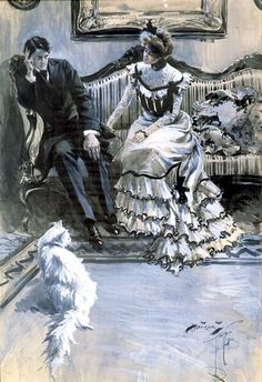 """""""Greater Higher Love,"""" by Harrison Fisher, 1901."""