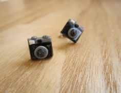 My Hobby Earrings 35mm Camera by JoyfulCreationsArt on Etsy, $8.00