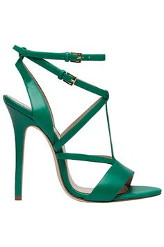 Elie Saab Green High Heel Sandal  Spring-Summer 2014 #Shoes #Heels