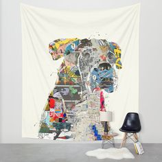 """the mod boxer"" Wall Tapestry by Bri.buckley on Society6."