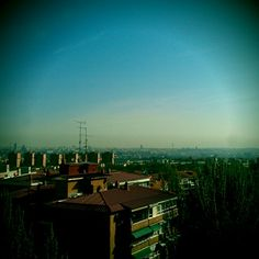 Madrid heart lies in the background of this pic, taken from my house's roof