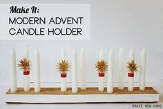 Modern Advent Candle