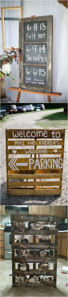 wedding sign ideas for outdoor farm weddings_ #weddingideas #countrywedding #rusticwedding #farmwedding #wedding2018