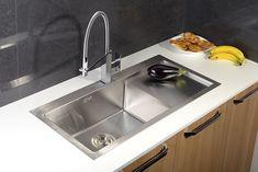 KIVA nerezový dřez 86x41x22 cm, levé provedení : SAPHO E-shop Sink, Kitchen, Home Decor, Sink Tops, Vessel Sink, Cooking, Decoration Home, Room Decor, Vanity Basin